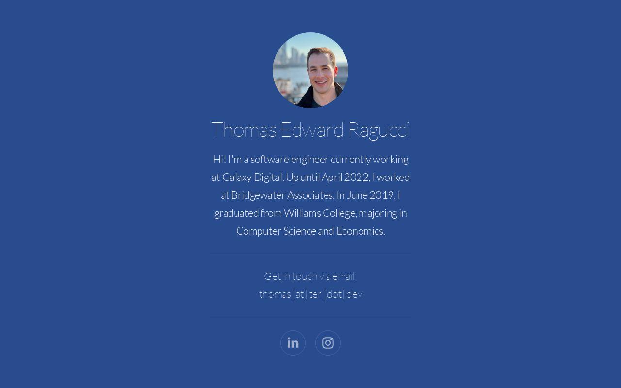 Thomas Edward Ragucci